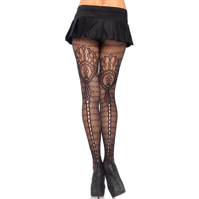 Pantyhose Black with Supremely Sexy Lace Design