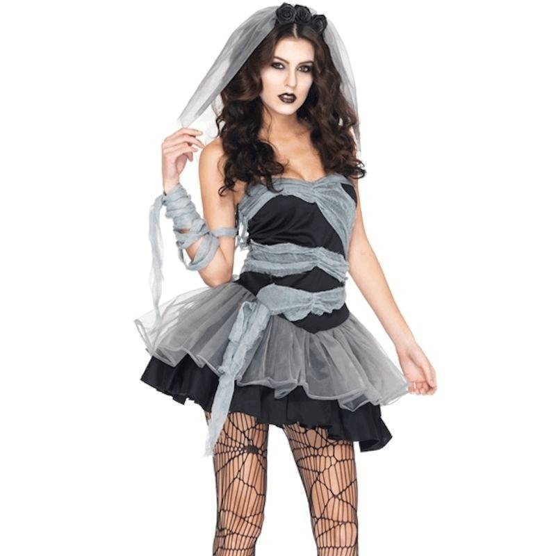 Costume Dead Head Ghoulish Bride Available in Plus Sizes