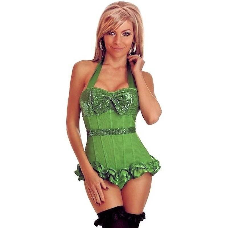 Bustier Green Show Girl Costume