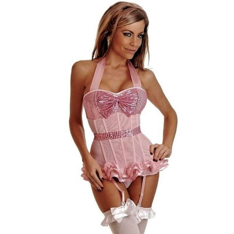 Bustier Pink Show Girl Costume