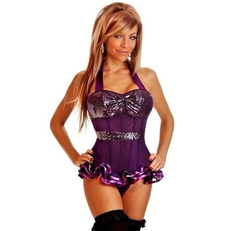 Bustier Purple Show Girl Costume