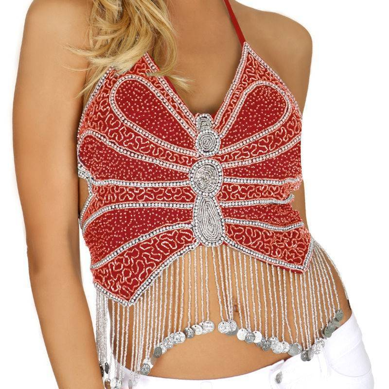 Butterfly Beaded Top for a Magical Maiden