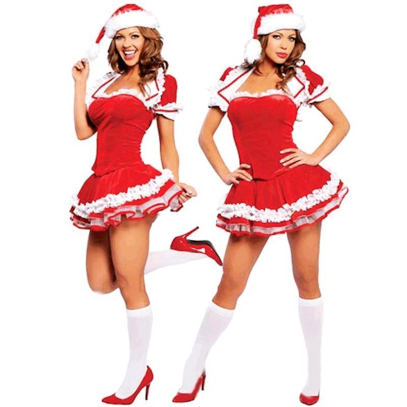Petticoat Mini Dress & Hat Christmas Costume