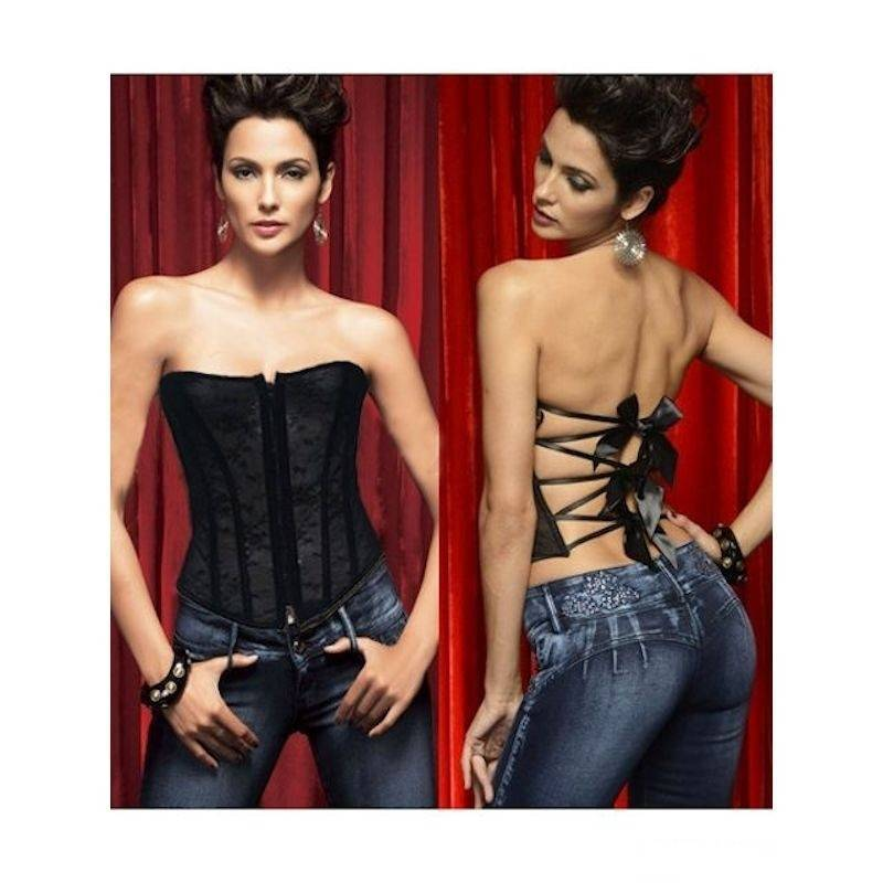 Corset Black with Open Back