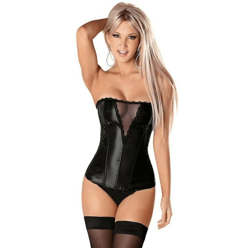 Corset Black with Window View Bodice