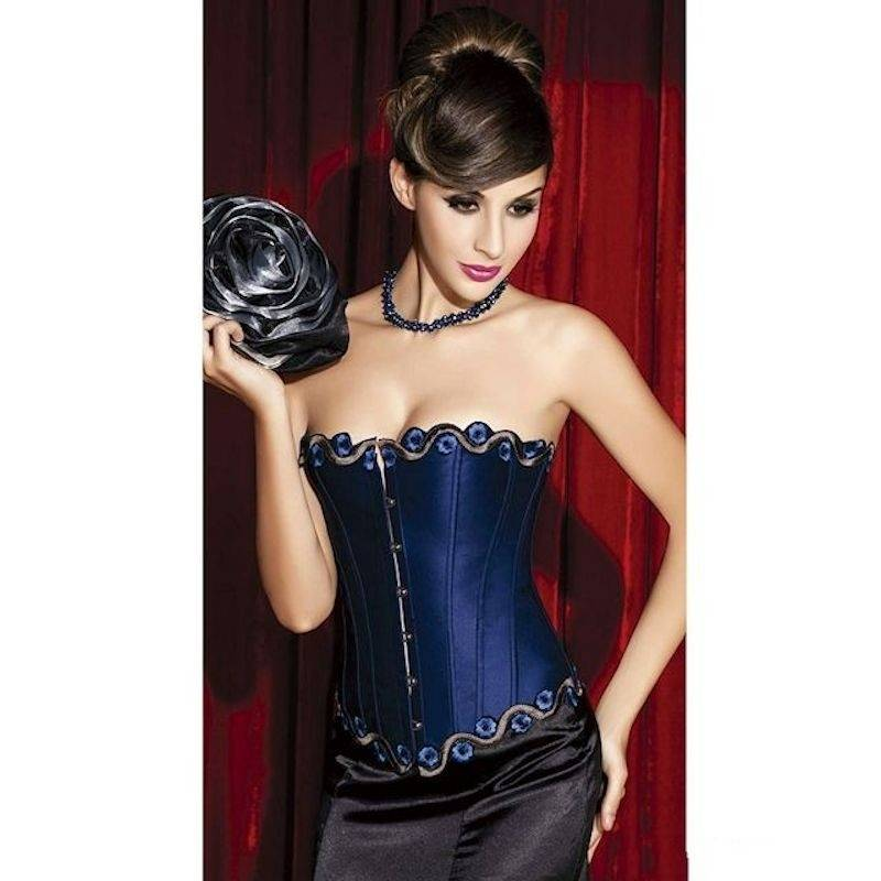 Lace with Braided Trim Corset