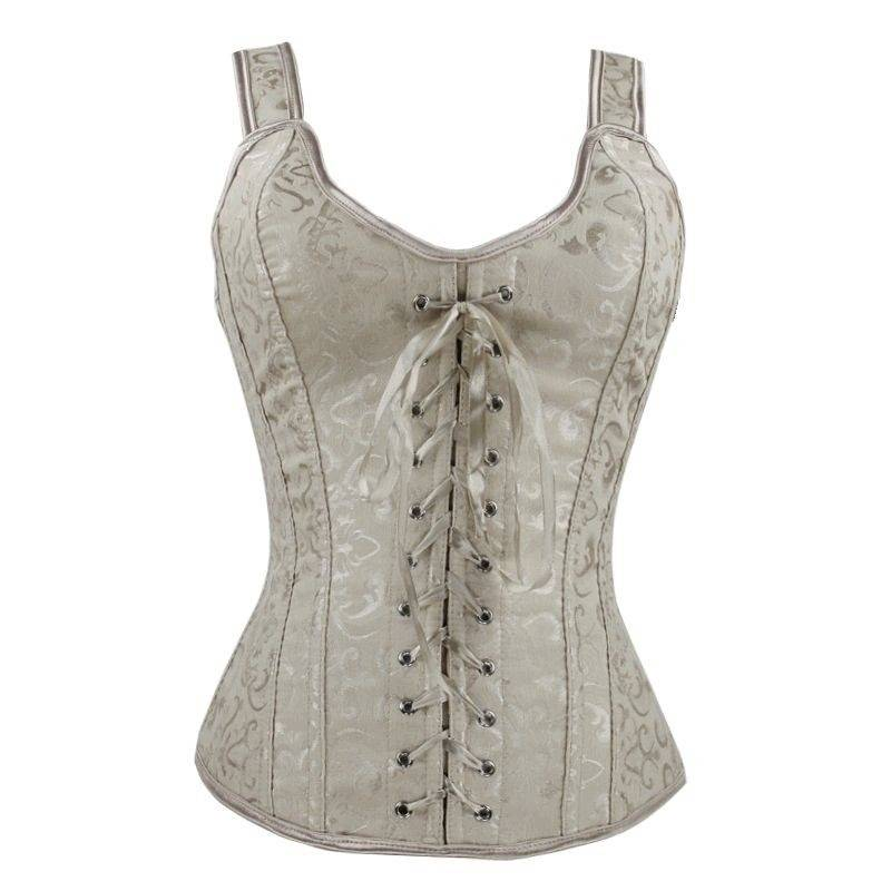 Bridal Corset Ivory with Lace up Front