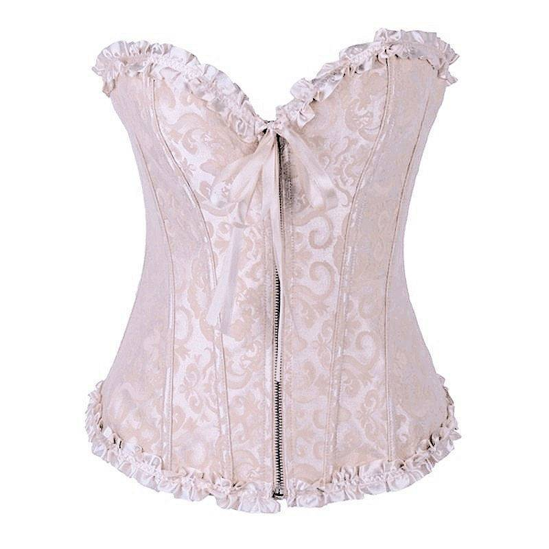 Bridal Corset Ivory with Front Zipper