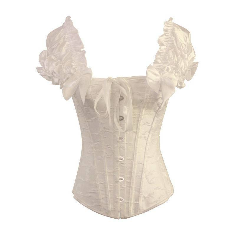 586b1e80c0 Bridal Corset Steel Boned Ivory with Sleeves