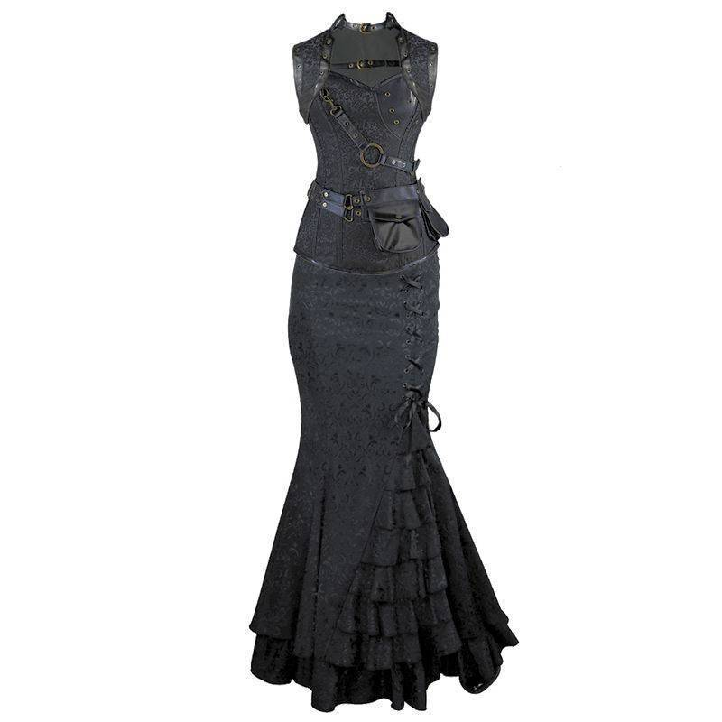 Steel Boned Steam Punk Corset Dress Also Plus Sizes