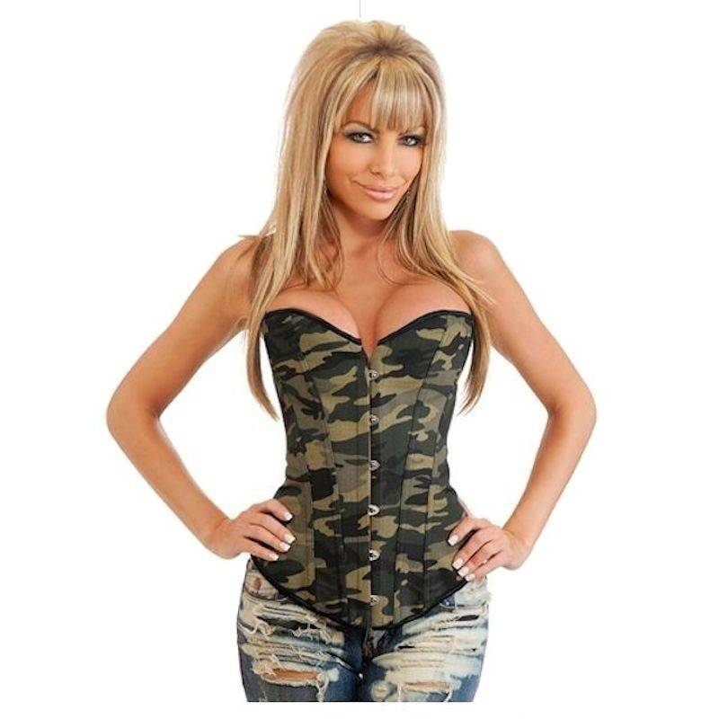 Corset Camouflage in Heavy Denim Fabric