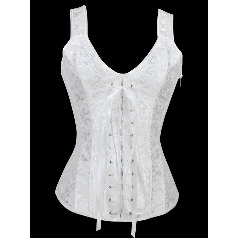 Bridal Corset White with Lace Up Front