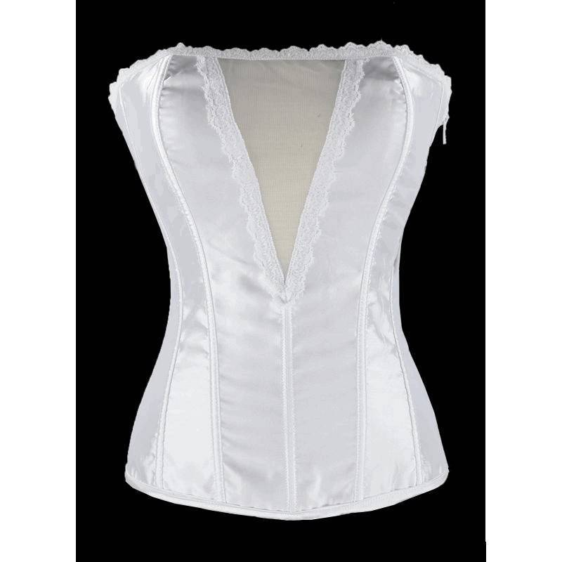 Bridal Corset White with Window View Bodice