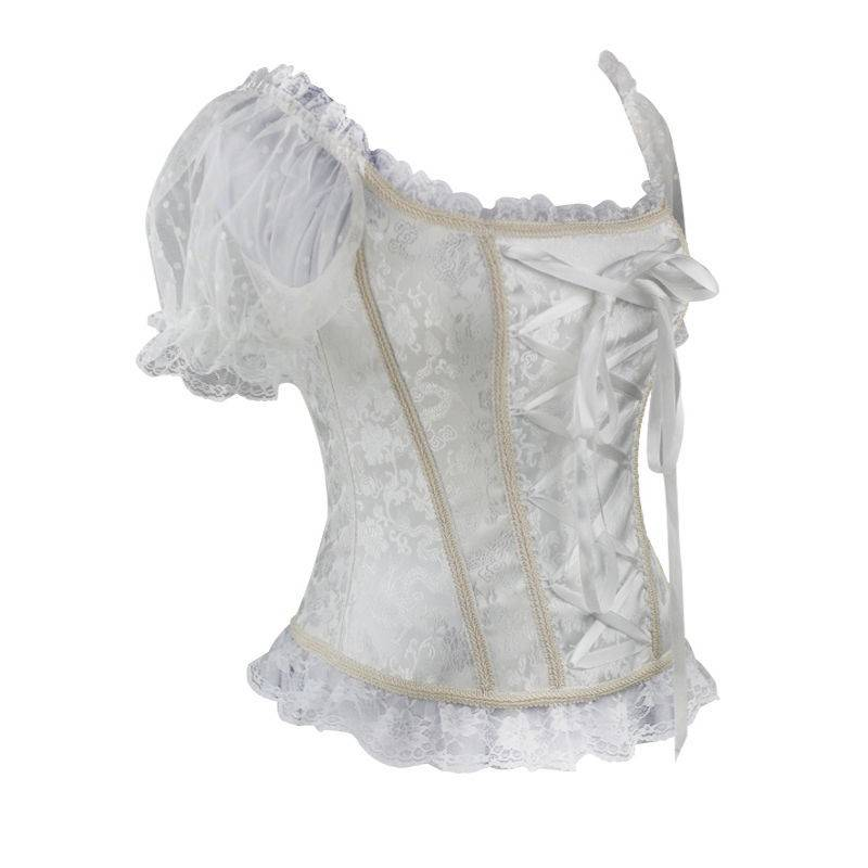 Bridal Corset White with Sleeves