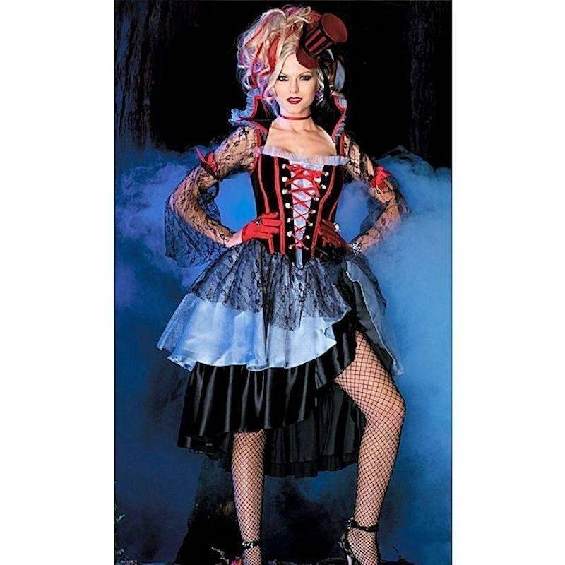 Costume Dark Majestic Queen with Hat and Gloves