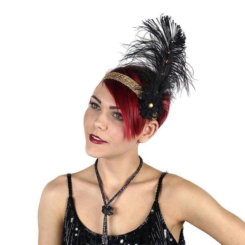 Feather Headband Flapper Style