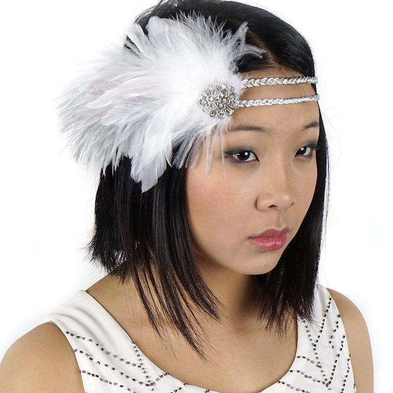 Feather Headband Vintage Style