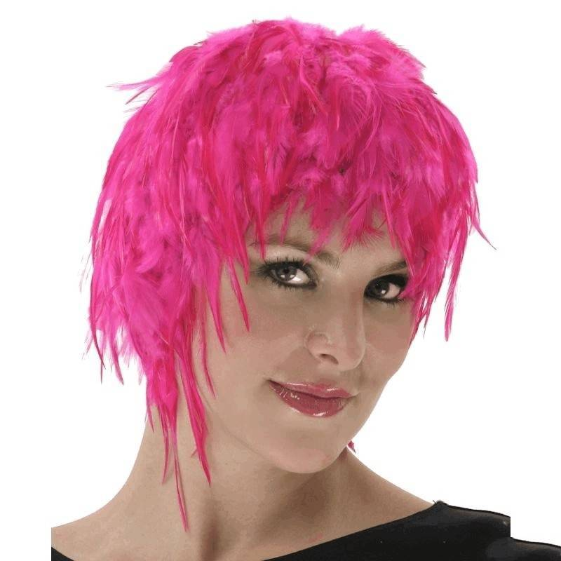 Wig Feather Hair Pink for Your Costume
