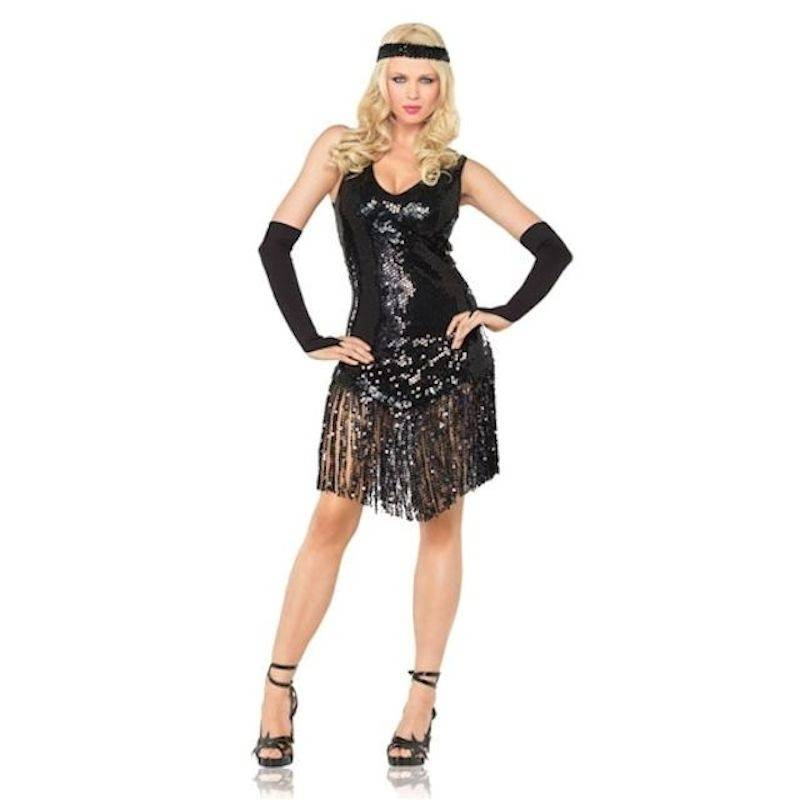 Costume Flapper Style with Gloves and Headband