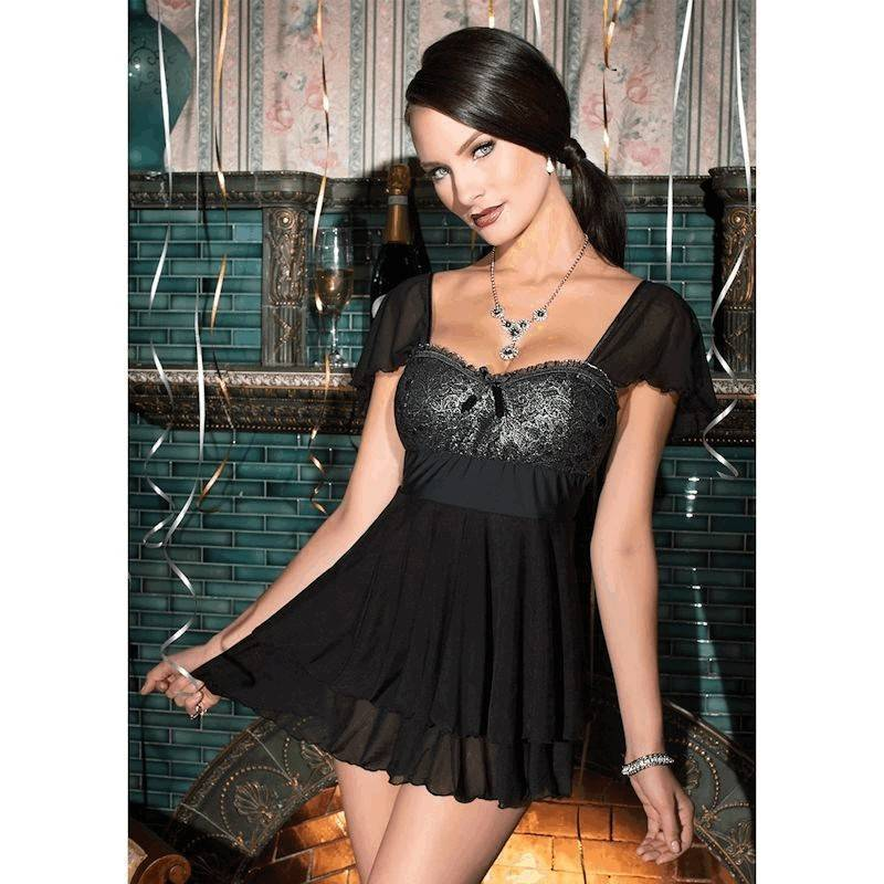 Lingerie Metallica Lady with Padded Bodice Baby Doll Nightie