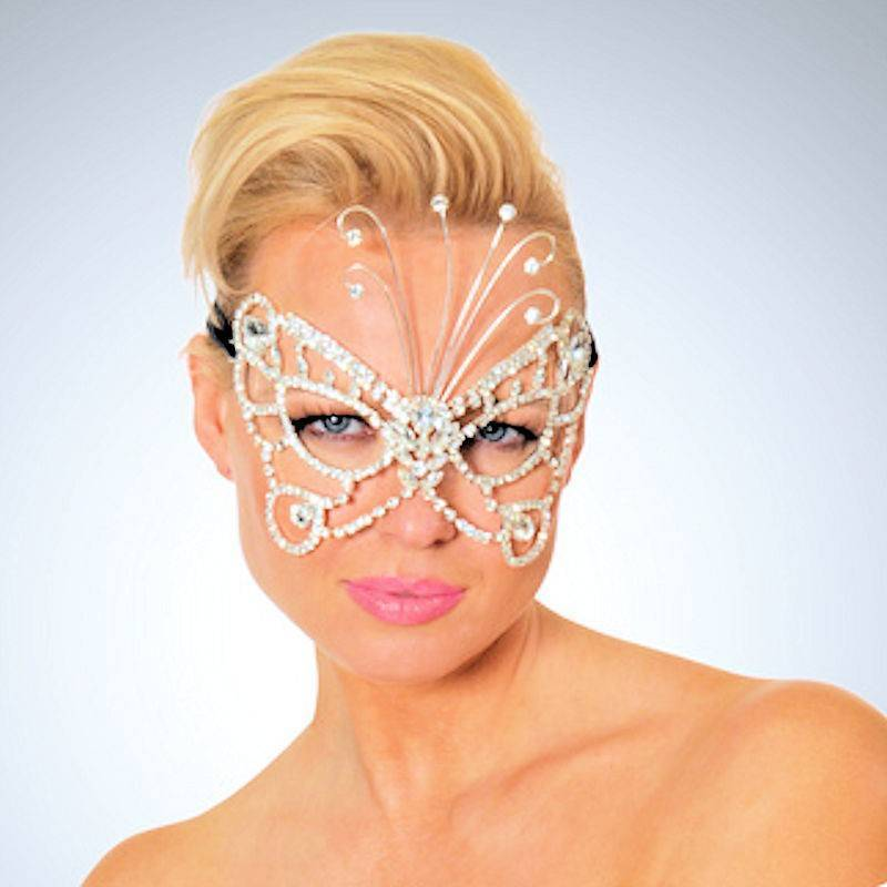 Mask Crystal Butterfly Carnival Style