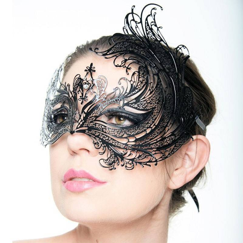 Mask Black Filigree Magical Maiden
