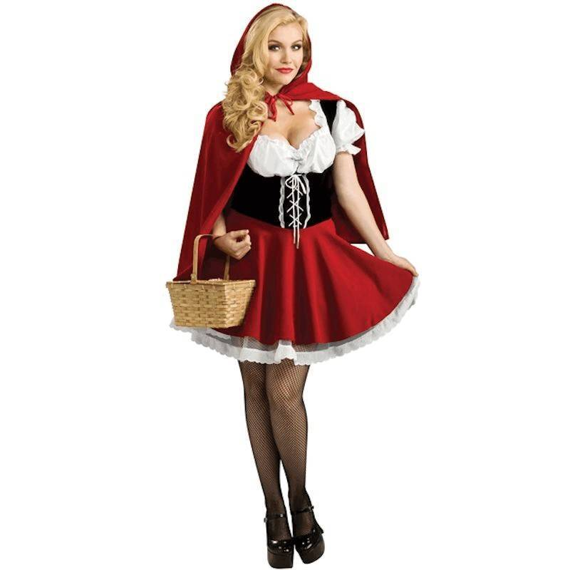 Costume Halloween Red Riding Hood Available in Plus Sizes