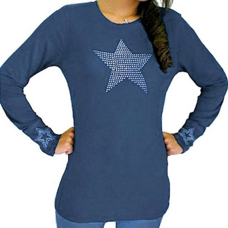 T-Shirt Rhinestone Be The Star Of Your Life by Sabrina Barnett