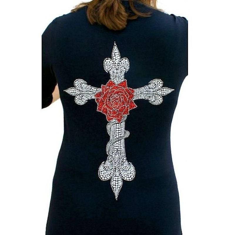 T-Shirt Rhinestone The Rose by Sabrina Barnett