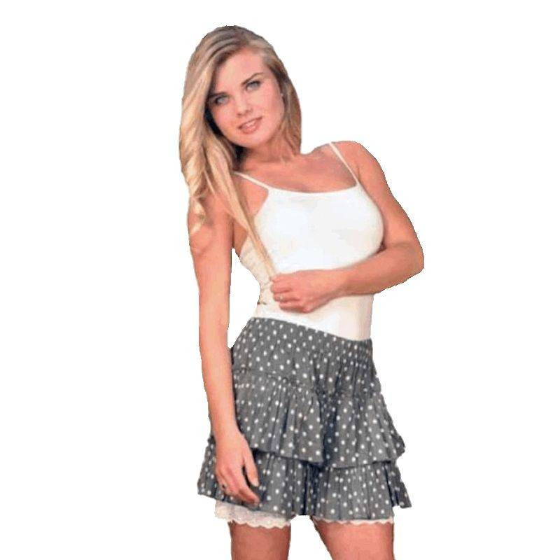 Shorts Layered Polka Dot Grey and White