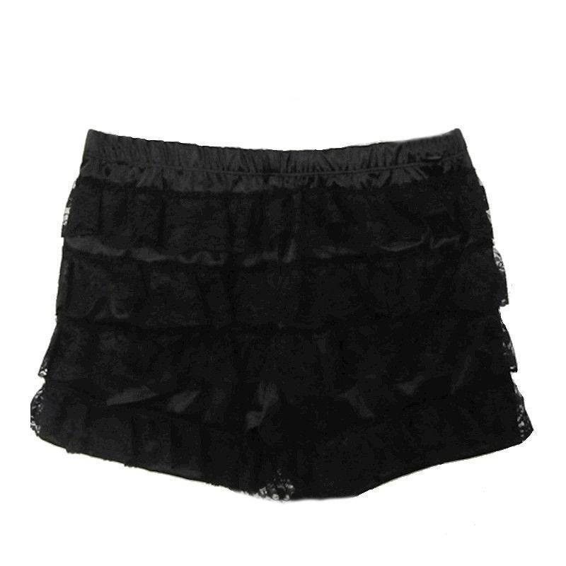 Shorts in Black Layered Lace for Your Corset