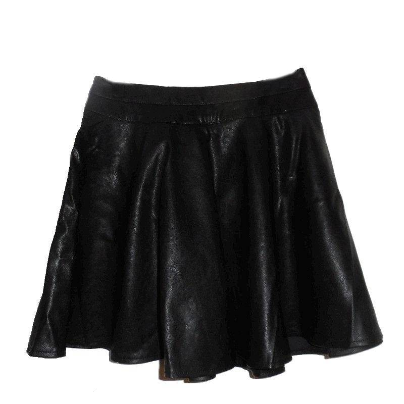 Skirt Black Leather to Wear with Corsets