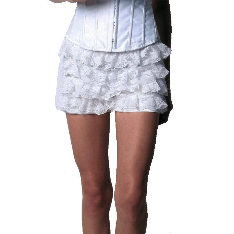 Shorts in Ivory Layered Lace for Your Corset