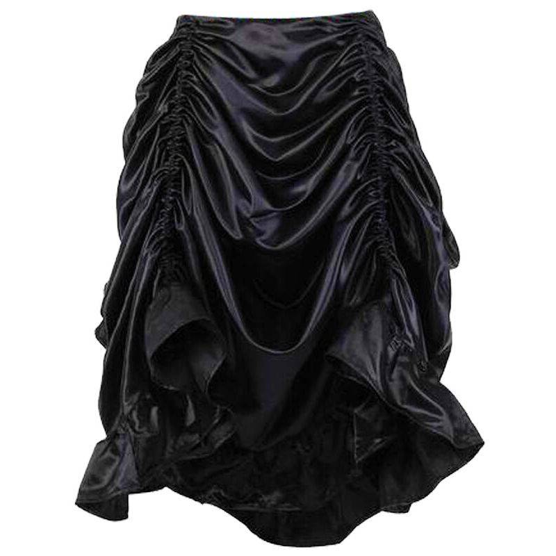 Skirt Black Enchantress with Draped Panels Short in Front