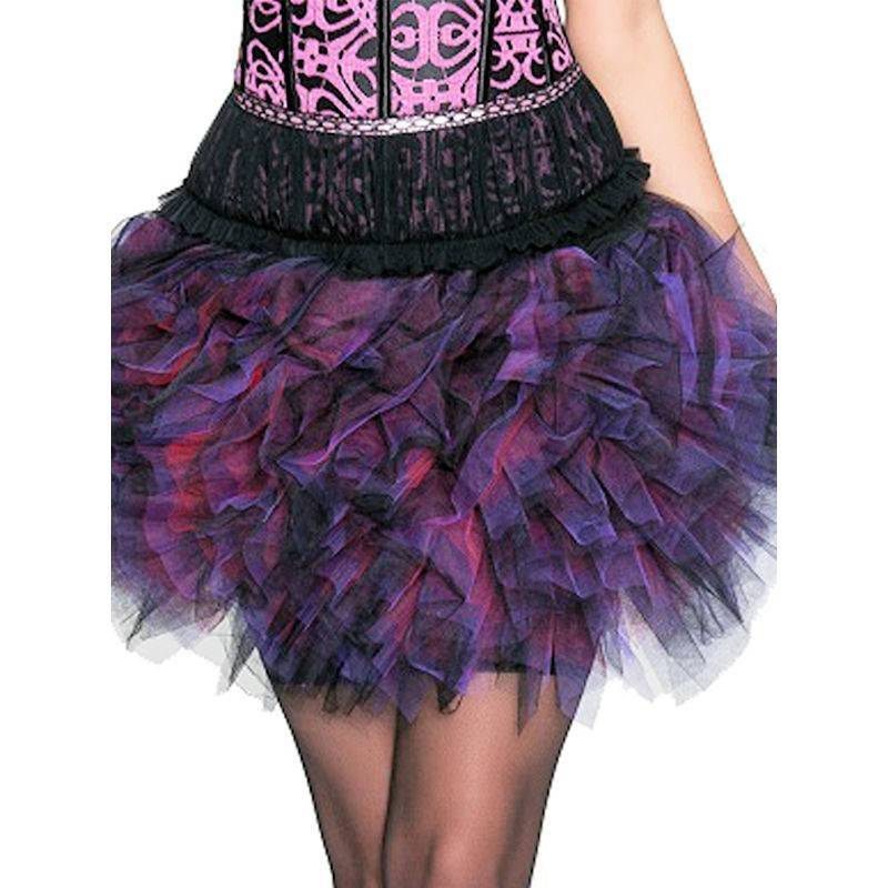 Skirt Brilliantly Fluffy Tutu in Black and Purple Tulle