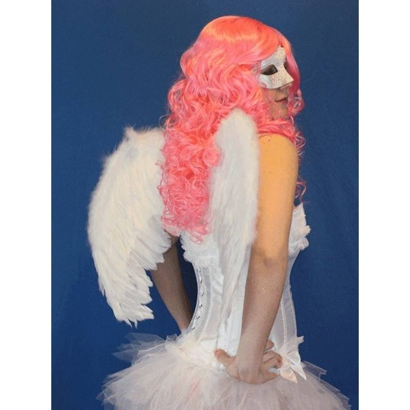 Wig Pink Long Hair Curly for Costumes