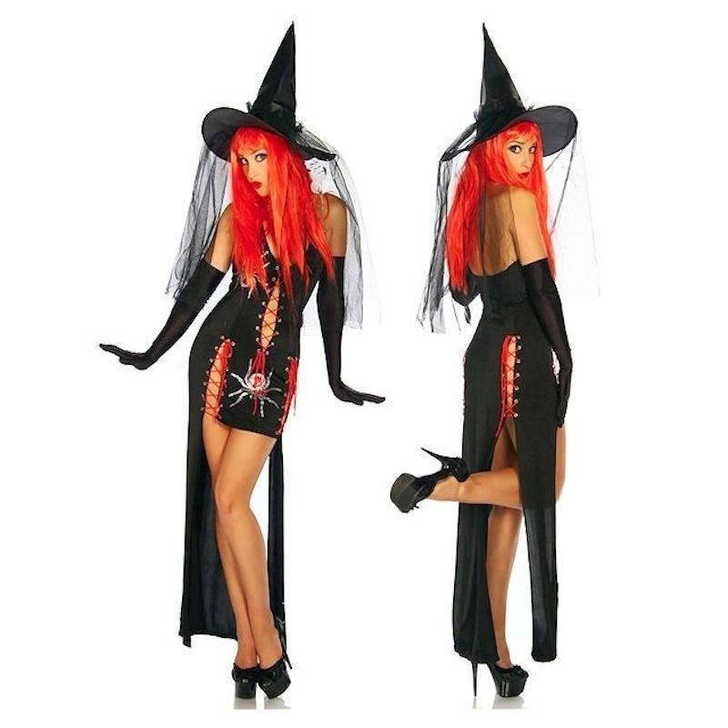 Costume Enchanting Witch with Spider Designs