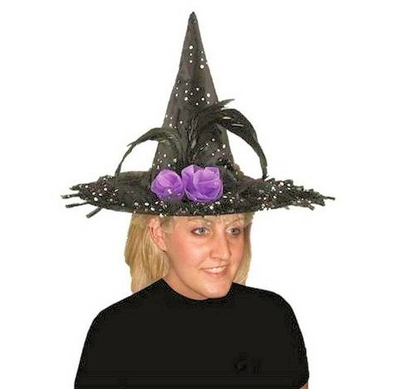 Witch Hat for Halloween in Polka Dot Sparkle Design