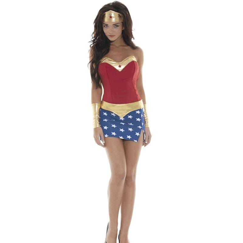 Costume Halloween Sexy Super Hero Seductress Also Plus Sizes