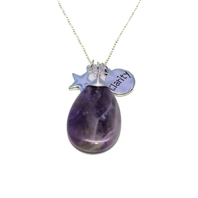 Amethyst Gemstone Necklace for Clarity