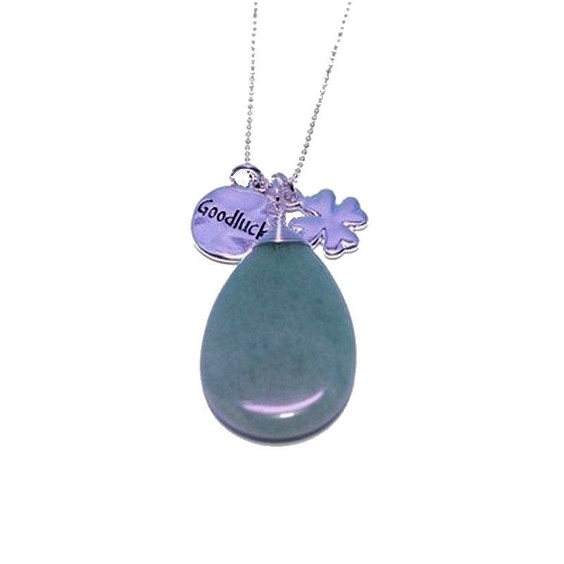 Aventurine gemstone necklace for good luck for A good jewelry store
