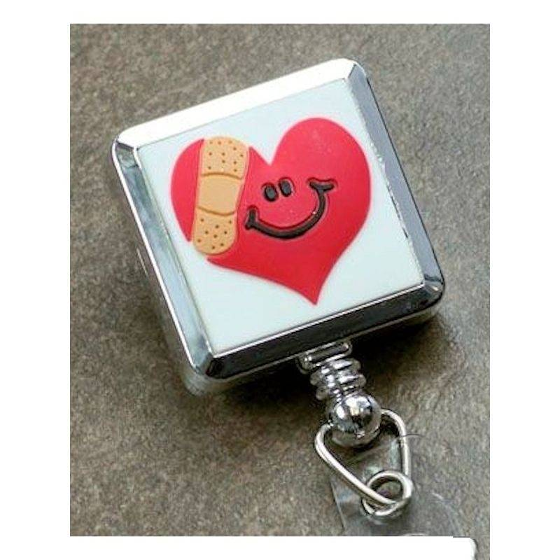 Badge Holder Metal Mended Heart Nurse Appreciation Gift