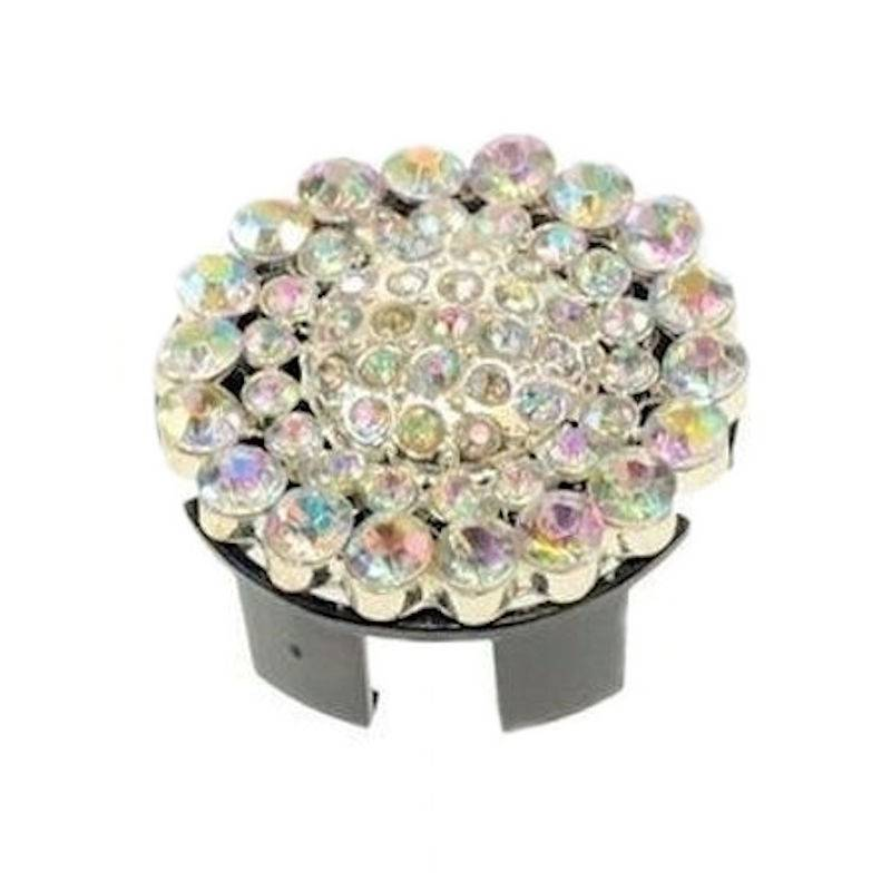 Badge Holder Popover Cover Round Crystal Brilliance