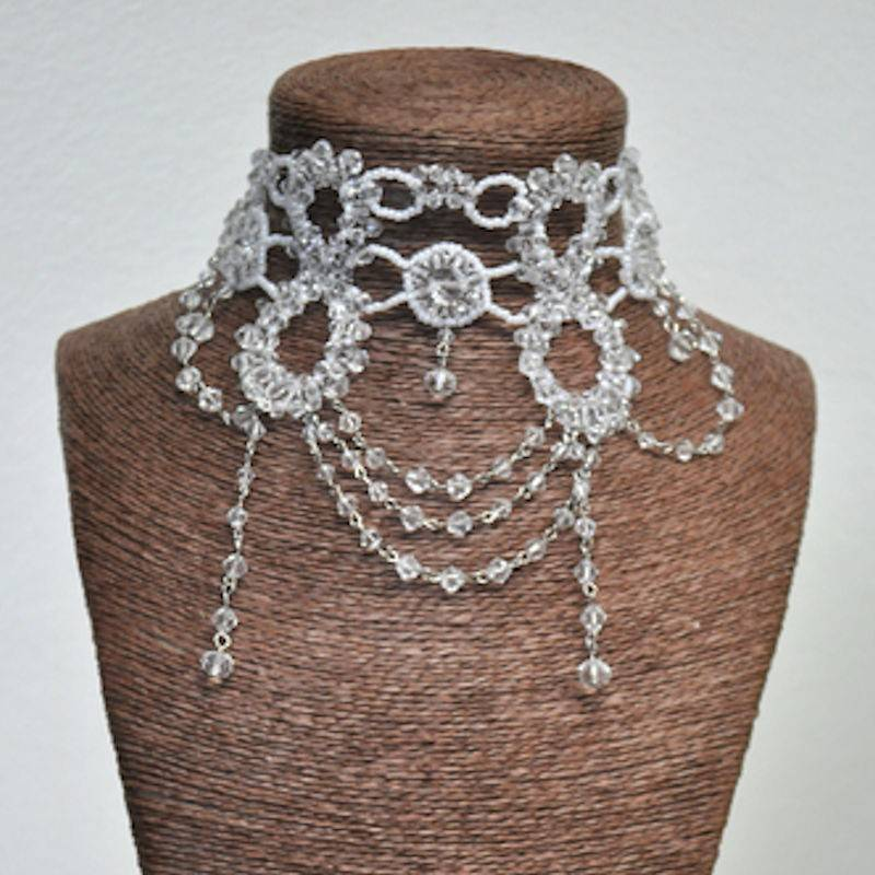 Choker Necklace Beaded Victorian Style