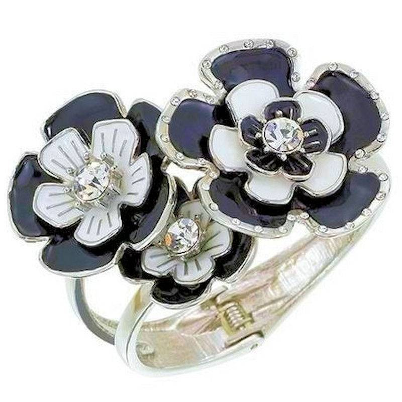 Bracelet Romantic Casablanca Black and White Floral
