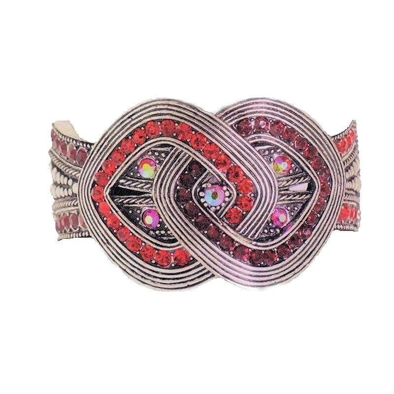 Bracelet Infinity Red Crystal Empress