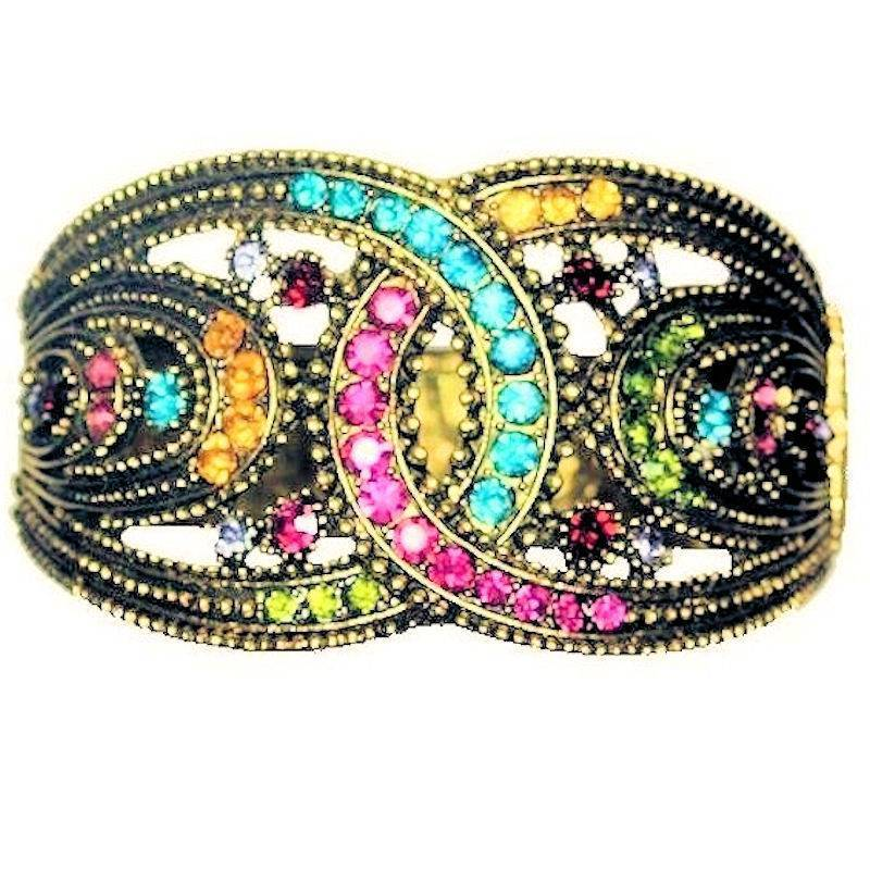 Bracelet Sparkle Queen Multicolored Cuff Bangle