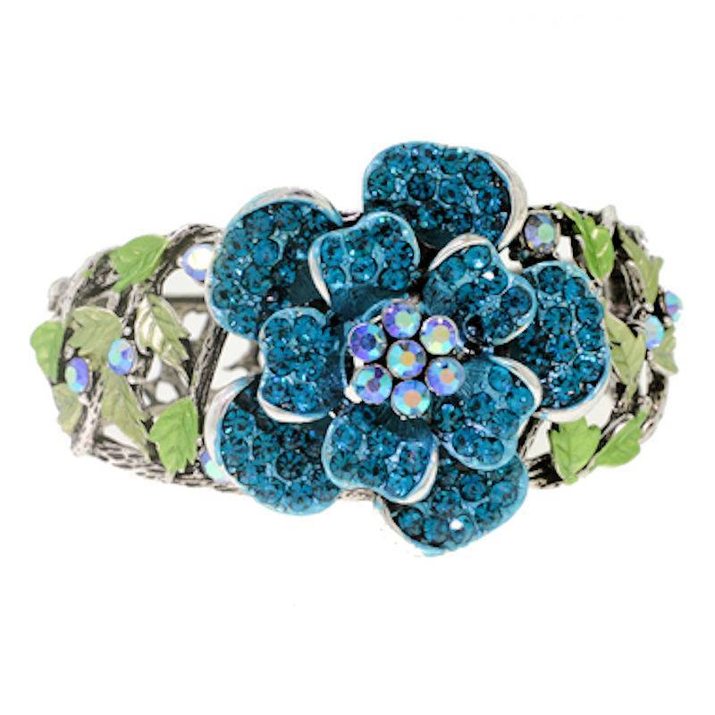 Bracelet Teal Floral Enchantment by I Love Bracelets