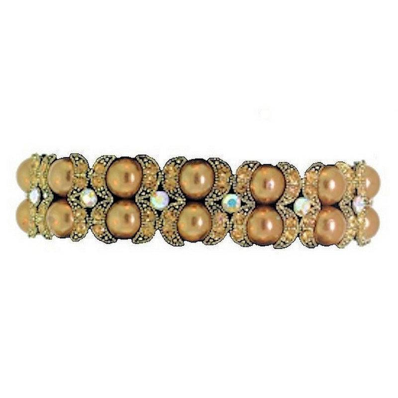 Bracelet Topaz Mystic Glass Beaded