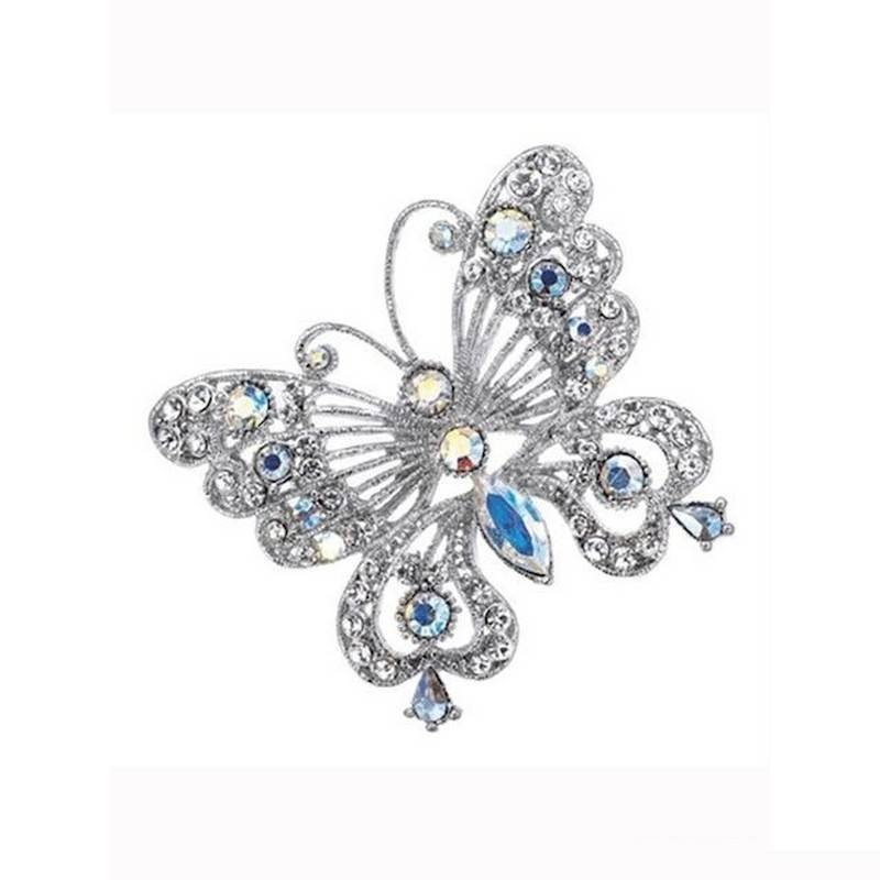 Brooch Crystal Butterfly Large Wedding Bells Lapel Pin